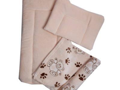 Набор в коляску – матрасик, плед, подушка (велсофт)